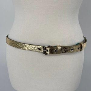 Boden Metallic Gold Slim Leather Blet Womens